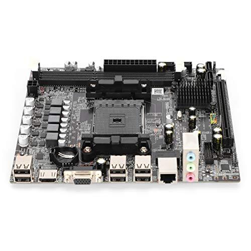 Placa base para computadora A55 / A58, placa base para PC de escritorio 2xDDR3 DIMM 1333/1600/1866 / 2133MHz, tarjeta gráfica con pantalla de núcleo integrado, tarjeta de sonido de 6 canales, interfaz