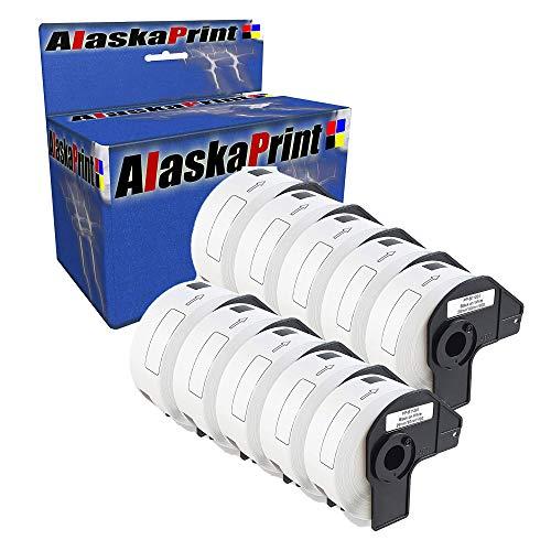 Alaskaprint 10x Rolle Adressetiketten Kompatibel für Brother DK11201 DK-11201 29 x 90 mm P-Touch QL-500 QL-570 QL-550 QL-700 QL-800 QL-810W QL-820NWB QL-1050 QL-1060N 1100 1110NWB(400 Etiketten/Rolle