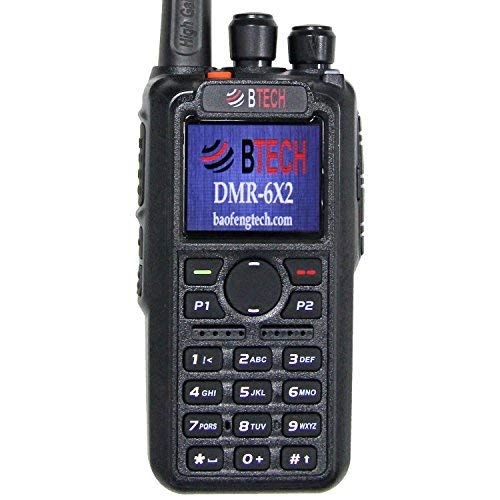BTECH DMR-6X2 (DMR and Analog) 7-Watt Dual Band Two-Way Radio