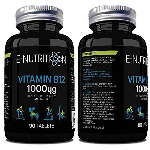 Vitamin B12 1000mcg Tablets | High Strength Cyoncobalamin | Vegan | Made in UK