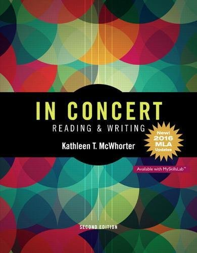 In Concert An Integrated Approach To Reading And Writing Mla Update 2nd Edition