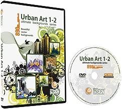 Urban Art 1-2 Backgrounds Bundle-Vector Clip Art Images-Grunge Urban Background-Building Clipart Illustration-Graphic Design DVD