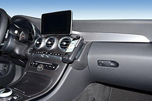 KUDA 1290 Halterung Echtleder schwarz für Mercedes C-Klasse (W205/S205) ab 2014