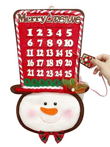 YING LING CRAFTS 2020 Snowman Christmas Countdown Calendar, Advent Calendar for Kids Adults, Home Door Wall Xmas Seasonal Decorations