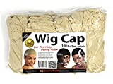 Beauty Town Wig Cap 100 Pieces Bulk Bag - Beige, Secures your hair, long lasting, stays in place, light, lightweight, breathable, wig comfortable,