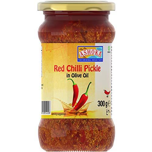 ASHOKA Eingelegte Roter Chilli in Olivenöl, 24er Pack (24 x 300 g)