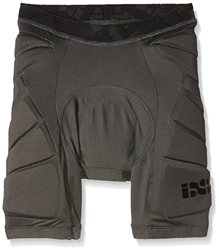 IXS Sports Division Kinder Hack Shorts Lower Body Protective Protektoren, Grey, S
