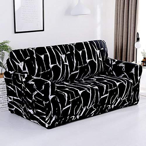 Funda de sofá con Estampado de Colores geométricos Fundas elásticas Funda de sofá antisuciedad Funda de sofá Funiture Toalla All Wrap A14 4 plazas