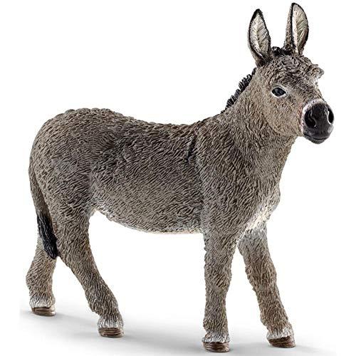 Dekofigur Esel, 9,4 cm, Wildtier-Figur, 9,5 x 2,5 x 9,3 cm, realistische Tierfigur