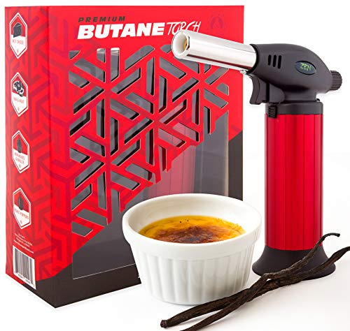 Butane Torch Lighter Refillable - Child Proof Lock -...