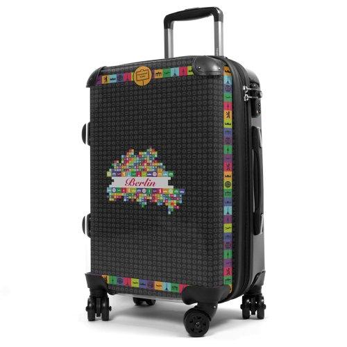 Hauptstadtkoffer® Style - Valise Rigide - 40 l. - Coque Frontale Transparente - Dessin Interchangeable - Serrure TSA (Berlin Noir)