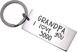 I Love You 3000 Keychain Dad Daddy Grandpa Stainless Steel Lettering Engraved Key Ring Gift for Dad