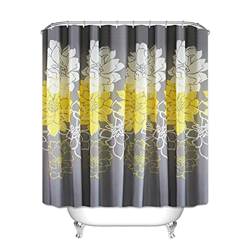 RHGEIUCY Home Bathroom partitioning Bathroom Shower Curtain Bathroom Modern Polyester Waterproof Bath Curtain (Color : A)