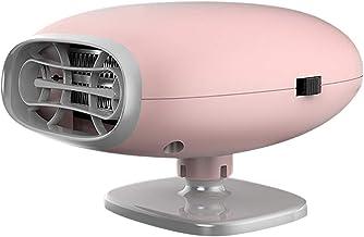 Covok Calefactor eléctrico portátil – Calefactor – Calefactor 12 V para coche, oficina, casa – Calefactor ajustable D ambiente 150 W, rosa, 9,5 x 7,5 x 13 cm 9.5 * 7.5 * 13cm Rosa
