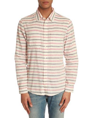 WOOLRICH - Hemden Casual - Herren - Gestreiftes, korallenrotes Hemd James für herren - XL