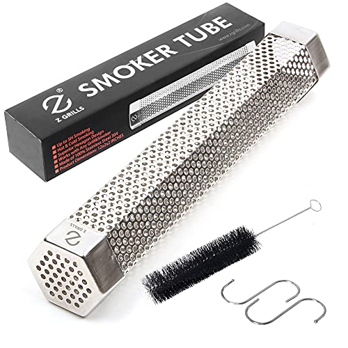 """Z GRILLS Pellet Smoker Tube 12"""" BBQ Billowing Smoke Mesh Stainless Steel for Cold/Hot Smoking"""