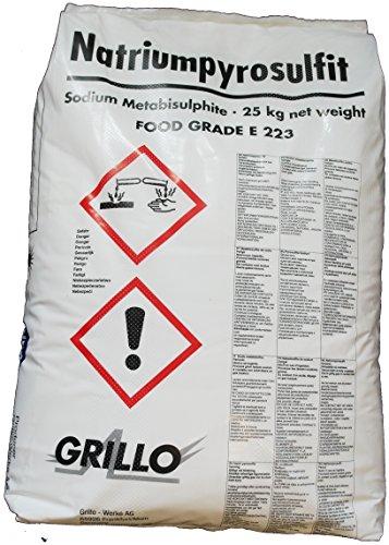25kg Natriumdisulfit (Natriummetabisulfit, Natriumpyrosulfit) Lebensmittelqualität E 223, Sackware, versandkostenfrei!