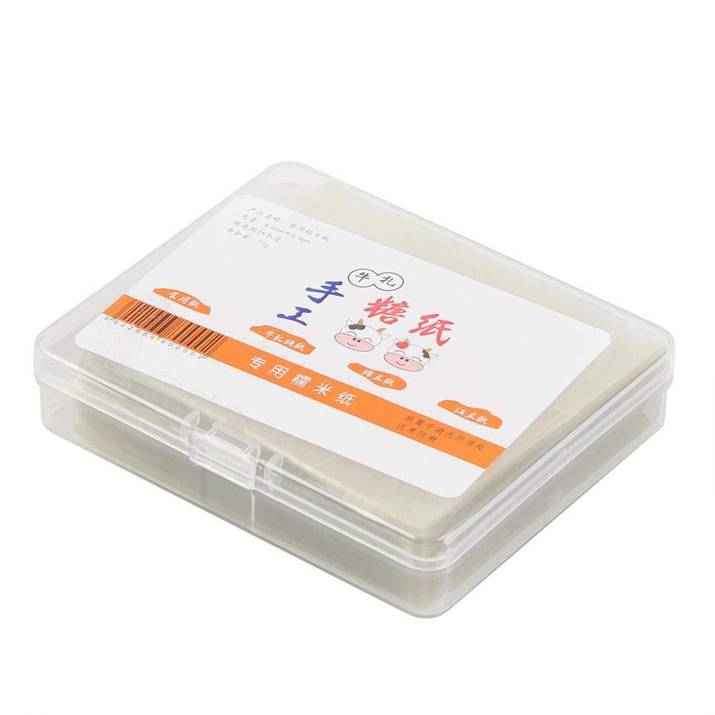 Turrón de papel de oblea de arroz comestible - 500 piezas de turrón de papel de oblea de arroz comestible de papel hecho a mano hojas de envoltura de caramelo: Amazon.es: Hogar