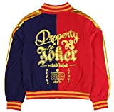 Bioworld Suicide Squad Harley Quinn Women's Juniors Bomber Jacket (Large) Red/Blue