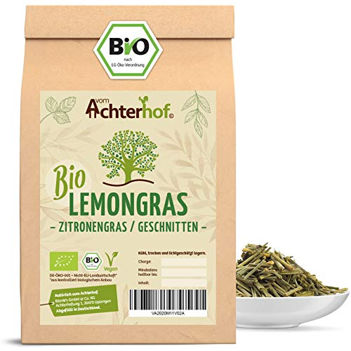 Zitronengras Tee BIO | 500g | 100% Bio Lemongras getrocknet geschnitten ohne Zusätze | vom Achterhof