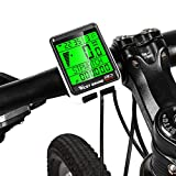 Umisu - Computer per bicicletta senza fili, impermeabile, multifunzione, LCD, display di velocità e distanza, ora per mountain bike, bici da strada, supporto 5 lingue