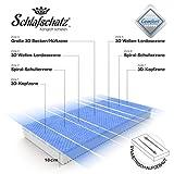 Schlafschatz Wellness Comfort 7-Zonen-Gel-Schaum-Matratze 90 x 200 cm mittel - 19 cm - 7