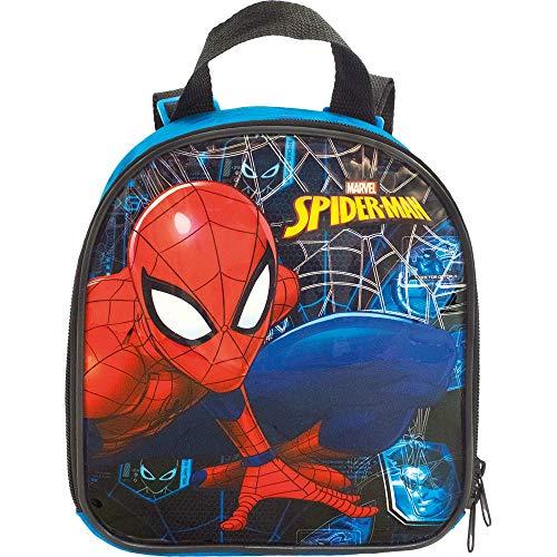 Lancheira Escolar, Homem Aranha, 8684, Azul