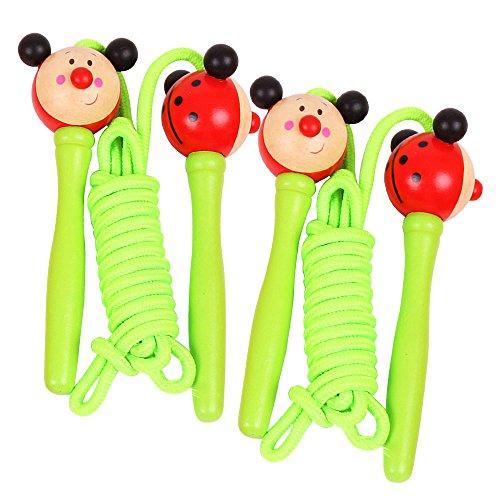 Bigjigs Toys Farbiges Springseil (Pack von 2 - Grüne Griffe, Marienkäfer)