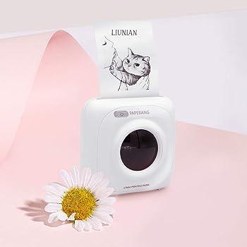Bianco Android iOS Thermal Printer Wireless Pocket Mini Multifunction Printer for Windows VBESTLIFE Mini Portable Photo Printer 57mm