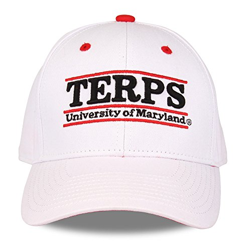 NCAA Maryland Terrapins Unisex NCAA The Game bar Design Hat, White, Adjustable