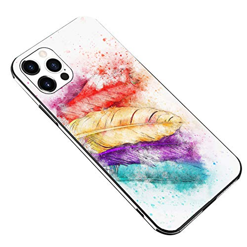Compatibile con iPhone 12 Pro, custodia protettiva con durezza 9H, in vetro HD, antiurto, per iPhone 12 Pro, tecnologia antigraffio, custodia compatib