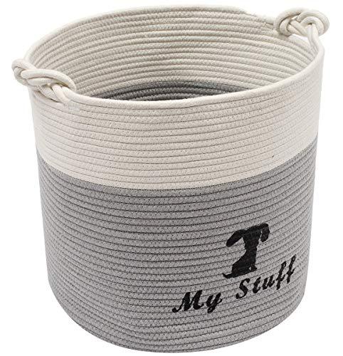 Aufbewahrungsbox für Hundespielzeug, aus Baumwollseil, ideal zum Organisieren von Haustier-Spielzeug, Decken, Leinen