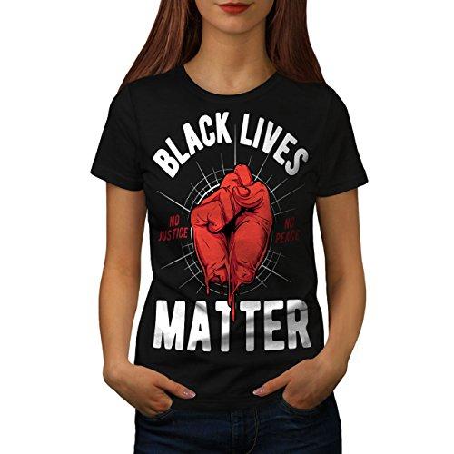 Wellcoda Black Lives Matter Slogan Womens T-Shirt, Casual Design Printed...