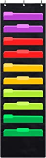 Godery Premium Hanging File Folder Organizer, 10 Pockets, 3 Hangers Cascading Wall..