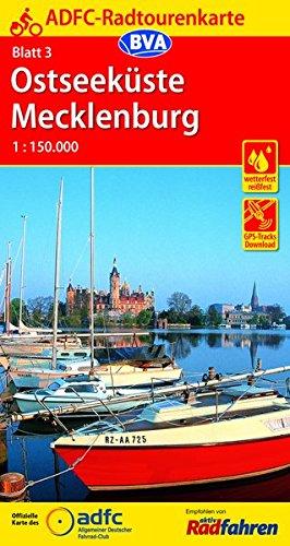 ADFC-Radtourenkarte 3 Ostseeküste Mecklenburg 1:150.000, reiß- und wetterfest, GPS-Tracks Download (ADFC-Radtourenkarte 1:150000)