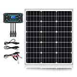 Sun Energise 50W 12V Solar Panel Kits- 50 Watt Mono Crystalline Solar Panel + Intelligent 10A Charge Controller with Dusk to Dawn...