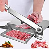 TTLIFE Taglia Carne Manuale con Affilacoltelli 9.5 pollici, 0-45 mm Affettatrice manuale per uso domestico in acciaio inossidabile affettatrice per alimenti vegetali per cucina casalinga
