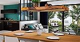 Denidro Lights   LED Hängelampe Holz   Tribus   3-flammige Dimmbare Pendelleuchte Esstisch   Deckenlampe Wohnzimmer mit LED Streifen aus massiver Wildeiche   rustikale Retro Lampe (Wildeiche, 100 cm) - 5