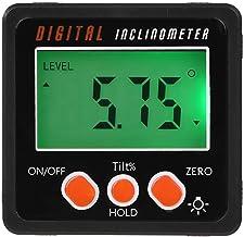 RETYLY Hoekmeter, precisie digitale gradenboog hellingmeter niveau vak, digitale hoekzoeker schuine doos met magneet basis
