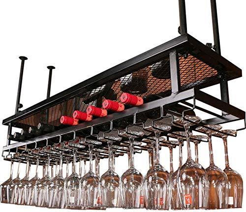 FWZJ Amantes del Vino/Estante para Vino de Pared/Estante para Colgar Vasos y Copas/Estante para Copas de Vino/Soporte para Botella Colgante/Estante para decoración de Tec