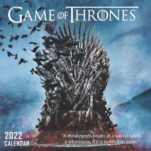 2022 Calendar: Game of Thrones - Mini Calendar 7x7 6 months bonus with large grid for scheduling and organizing