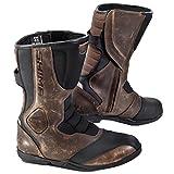 Shima Strada Vintage Hombre Retro Road Sport Botas de Piel Moto Botas (41–46), Color marrón