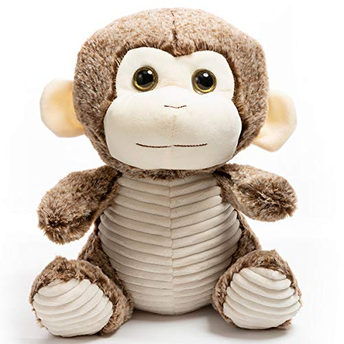 HollyHOME Stuffed Animal Monkey Soft Plush Monkey Cuddly Toy Gifts for Kids Brown 12 Inch