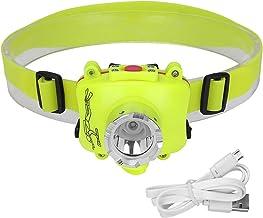 Hoofdlamp, draagbare led-duiklamp, werklicht, waterdichte schijnwerper, ingebouwde USB-oplaadaccu, hoofdzaklamp, voor 's n...