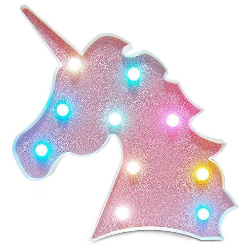 Kleurrijke Eenhoorn LED Licht Nachtlampjes Lamp Wanddecoratie Decoratieve Teken voor Feest/Bruiloft/Kid Verjaardagsfeest/Vakantie Feesten