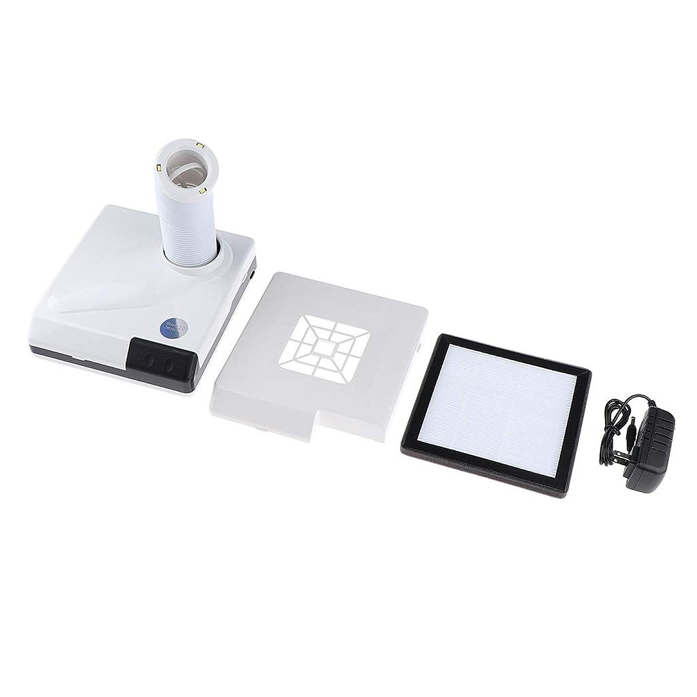 重荷イタリックアドバイスCUTICATE 60W ネイルダストコレクター ネイルサロン ダストコレクター 全2色 - 白