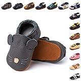 Zapatos Primeros Pasos Bebe Niña Niño Suave Cuero de Imitación Casual...