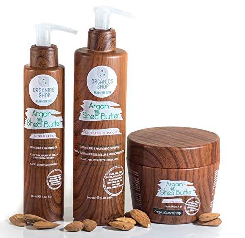 organics-shop set shampooing masque conditioner & huile...