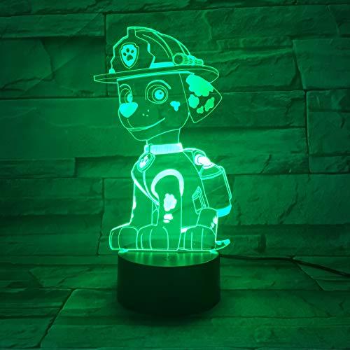 Beleuchtung, 3d Optische Farbänderung, Rettungshund, Led-effekte, Kinder Geschenke, Home Decor, Indoor Stillen Beleuchtung, 16 Farben fernsteuerung