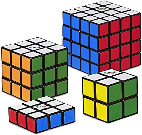 Hasbro Gaming Rubik s Solve The Cube Bundle 4 Pack Original Rubik s Products Toy for Kids Ages product image